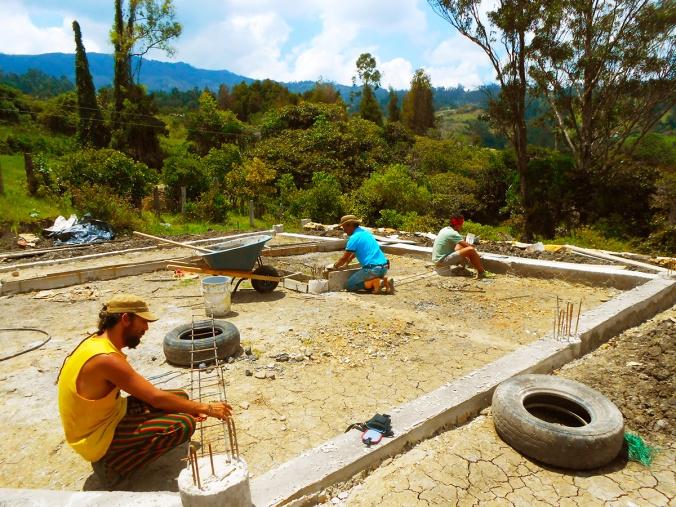 proyecto gaia construyendo casas