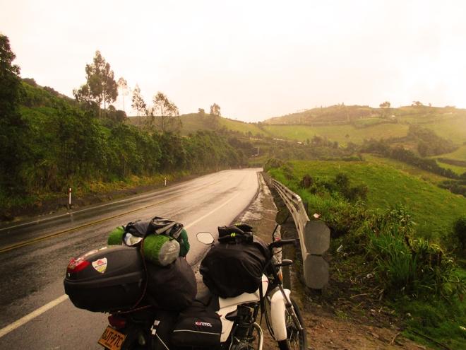 Juan Camilo Medina, viaje a Patagonia en moto