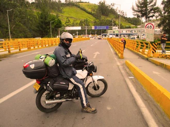 Juan Camilo Medina, viaje a Patagonia, frontera Ecuador-Colombia